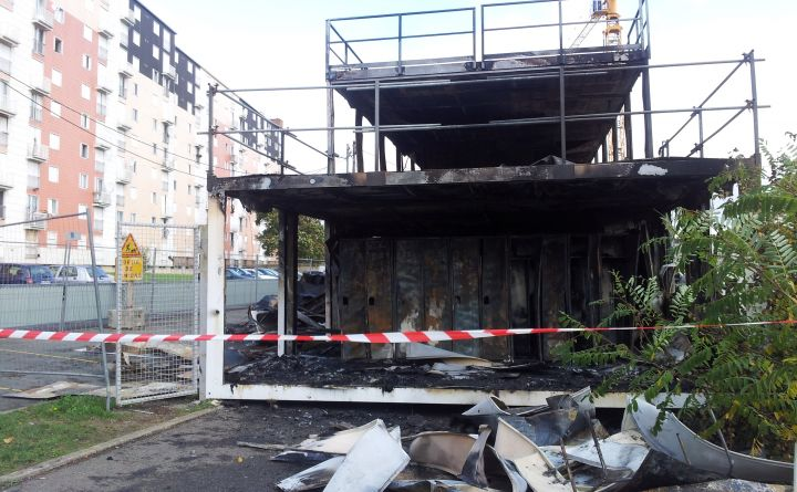 Poissy Coudraie - incendie chantier renov. urbaine