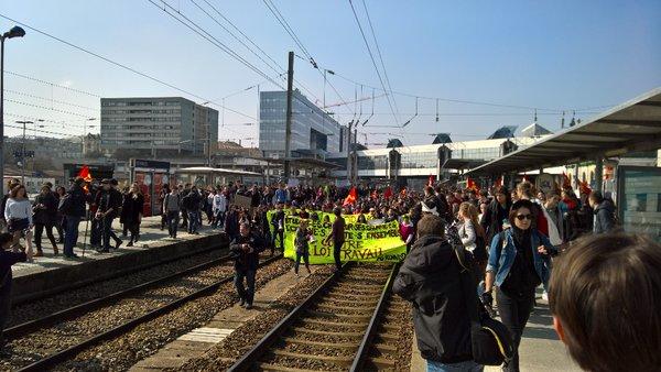 rennes 17 3 2016 blocage gare